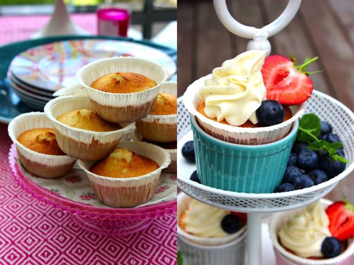 vaniljmuffin cupcake