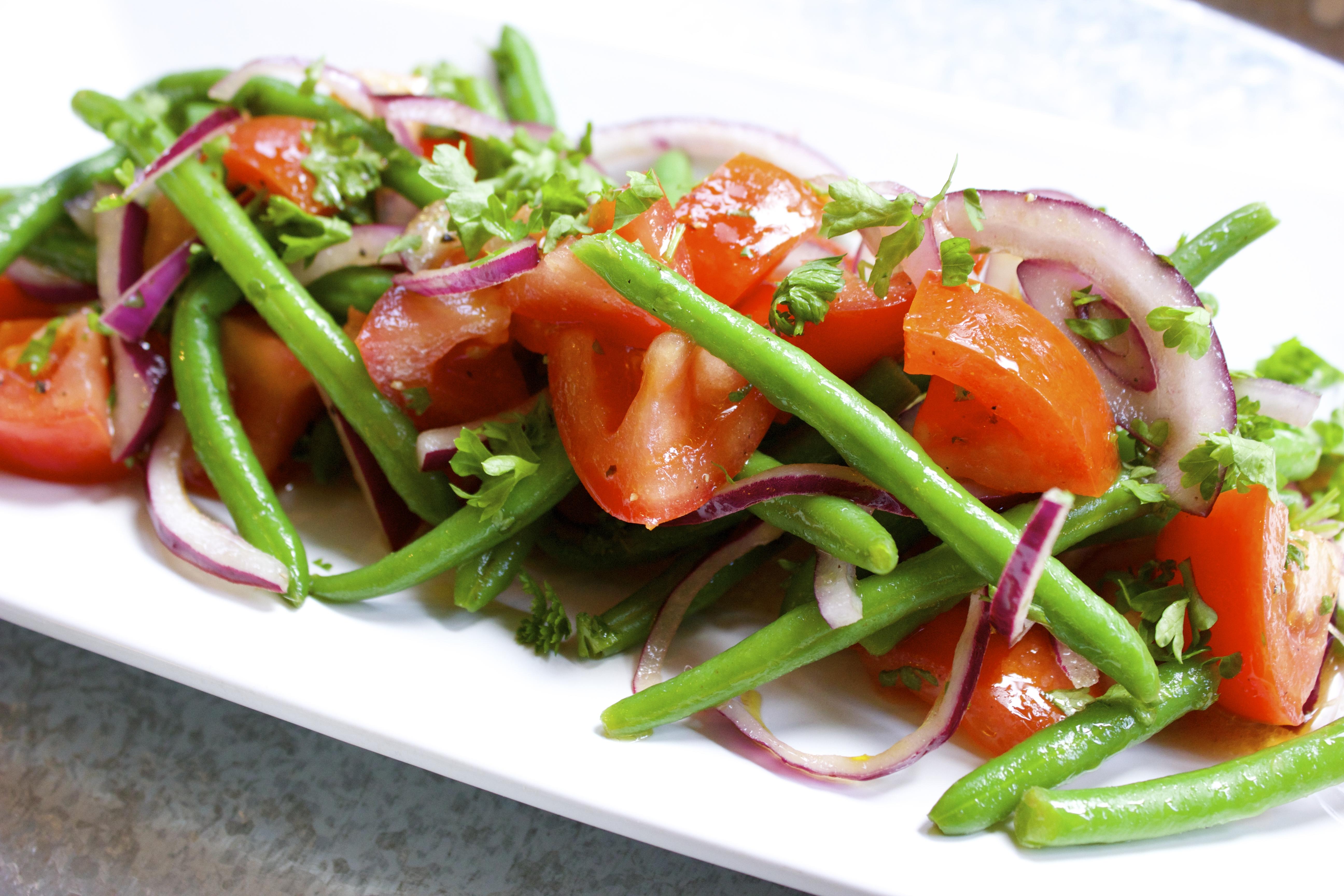 tomatsallad med haricots verts
