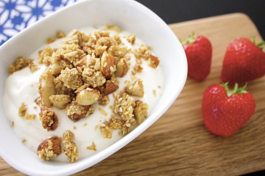 granola med lakrits och ingefära lchf