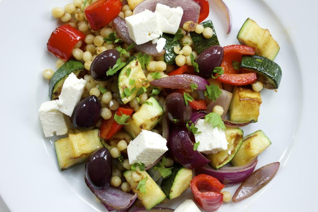 medelhavsgrönsaker med pärlcouscous