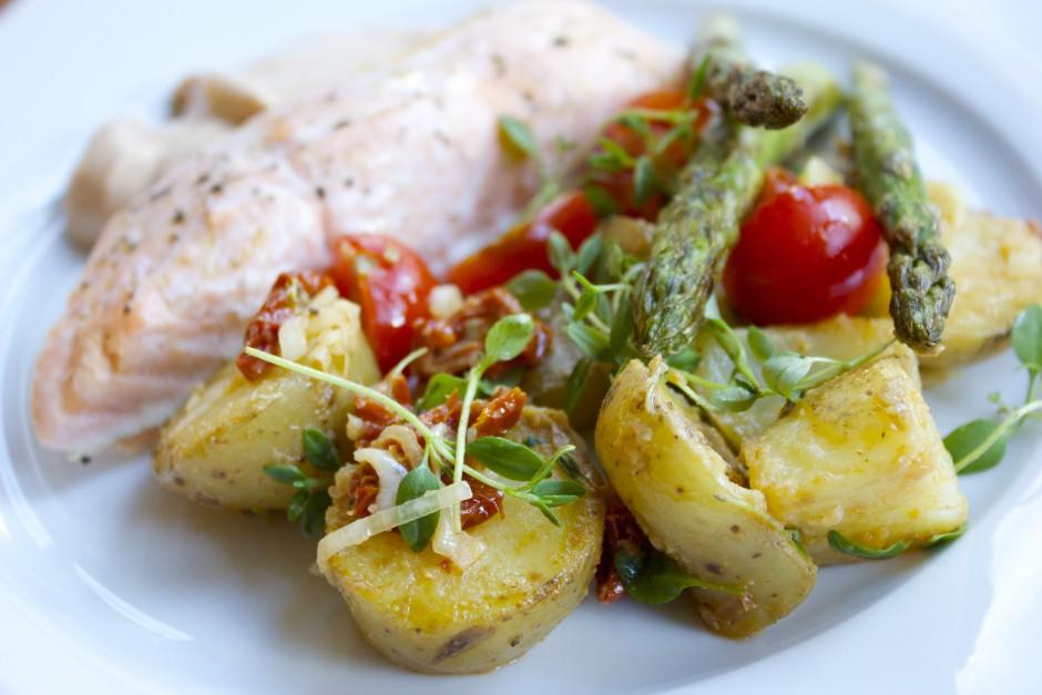 potatissallad med senapsdressing
