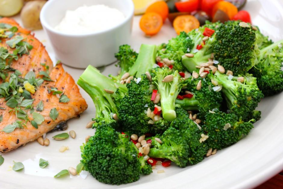vitlöksfräst broccoli med chili