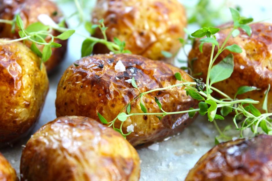 rostad hel potatis