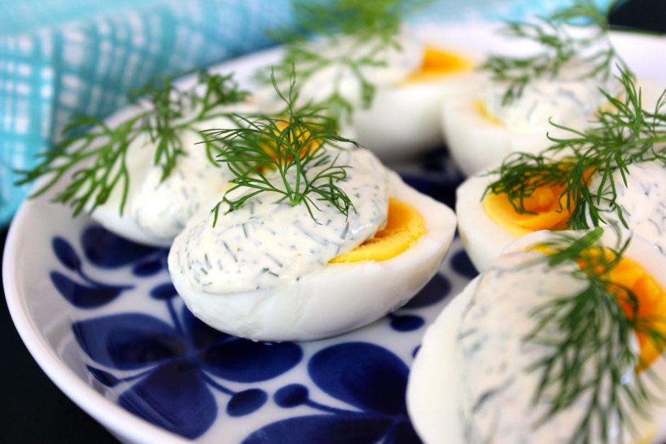 ägg med dillmajonäs, lchf