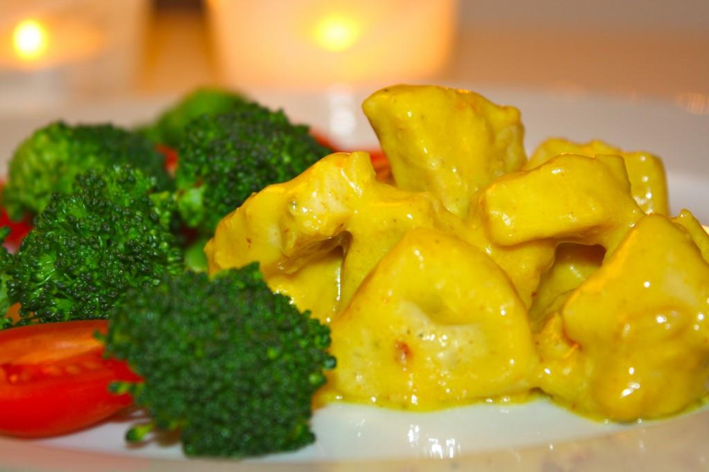 kyckling mango chutney curry