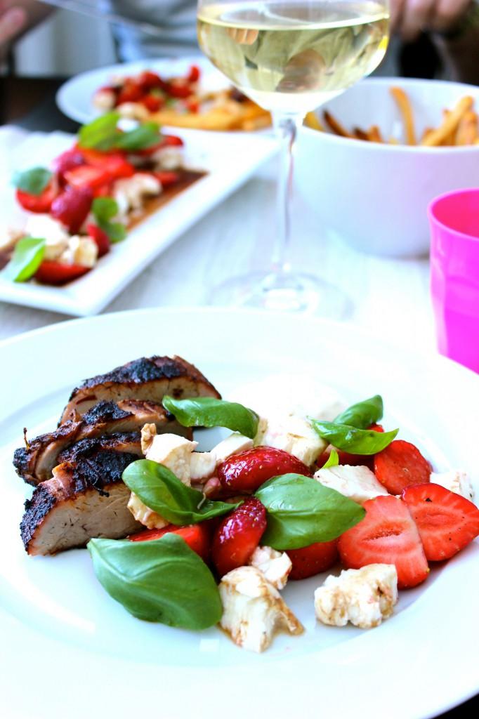 jordgubbar mozzarella