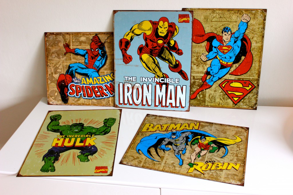superhjältar tavlor