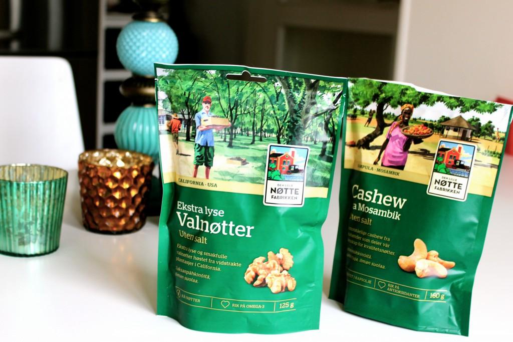 nötter cashew och valnöt