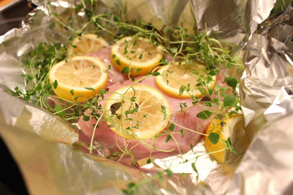 citronkyckling i ugn
