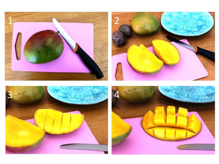 hur delar man en mango