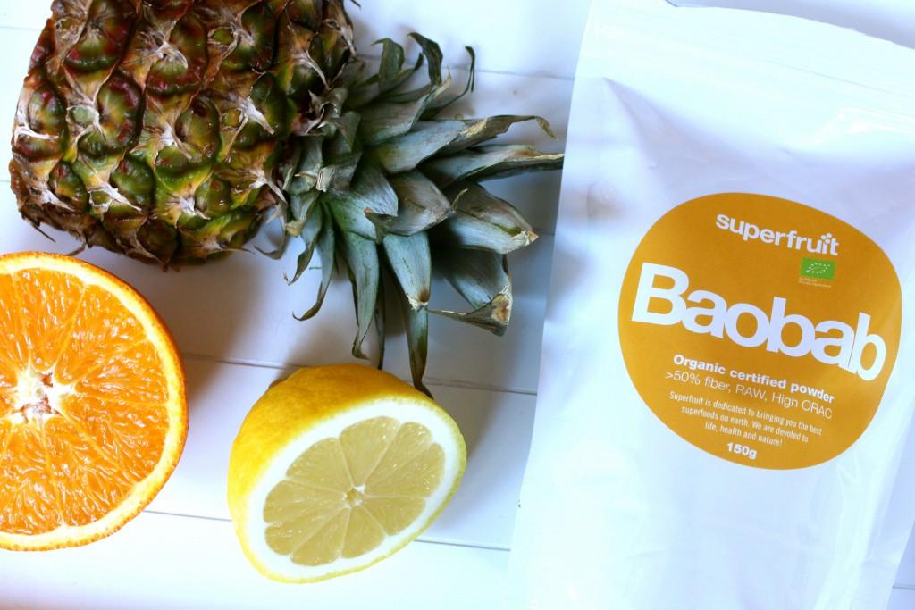 smoothie med baobabpulver
