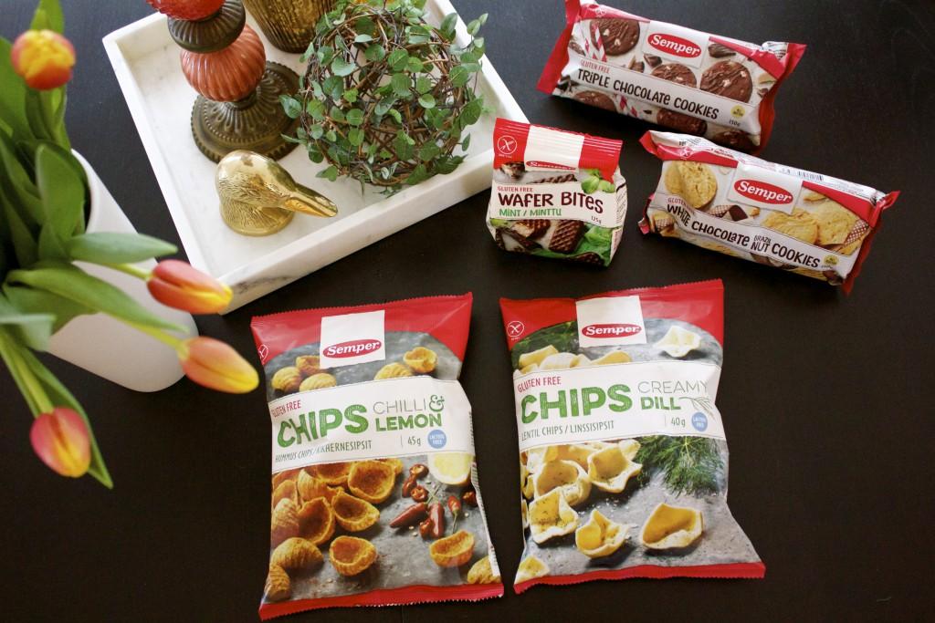 semper glutenfritt, chips, kex