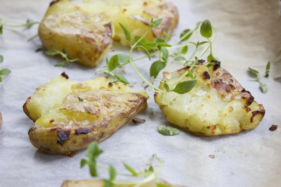 kraschad potatis i ugn