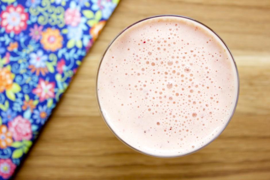 smoothie med nektarin och äpple