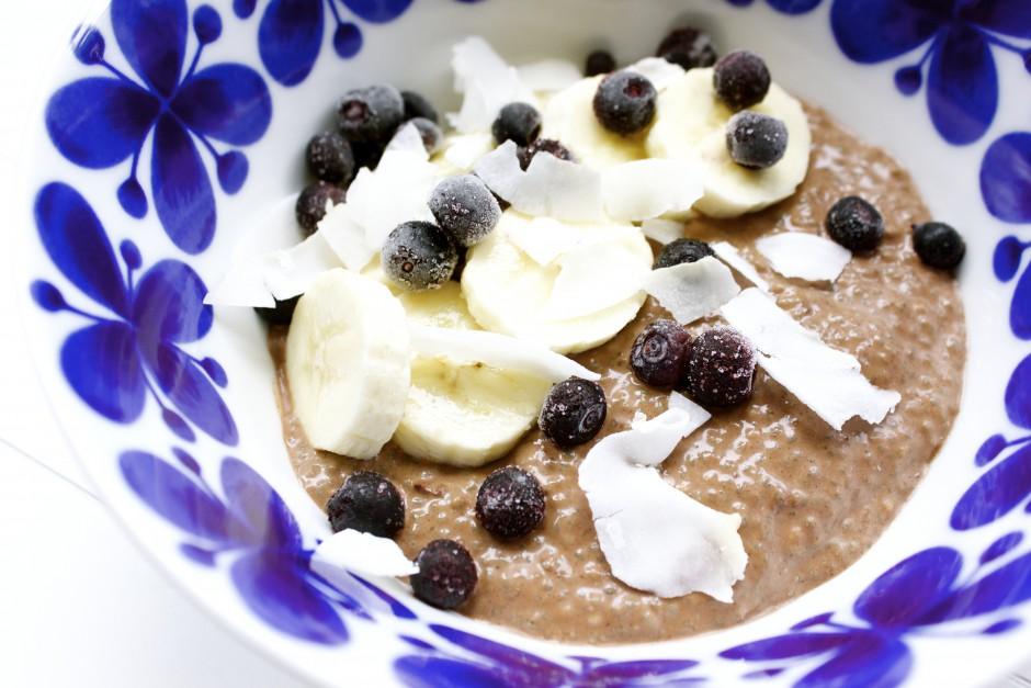 chiapudding med choklad och kokos