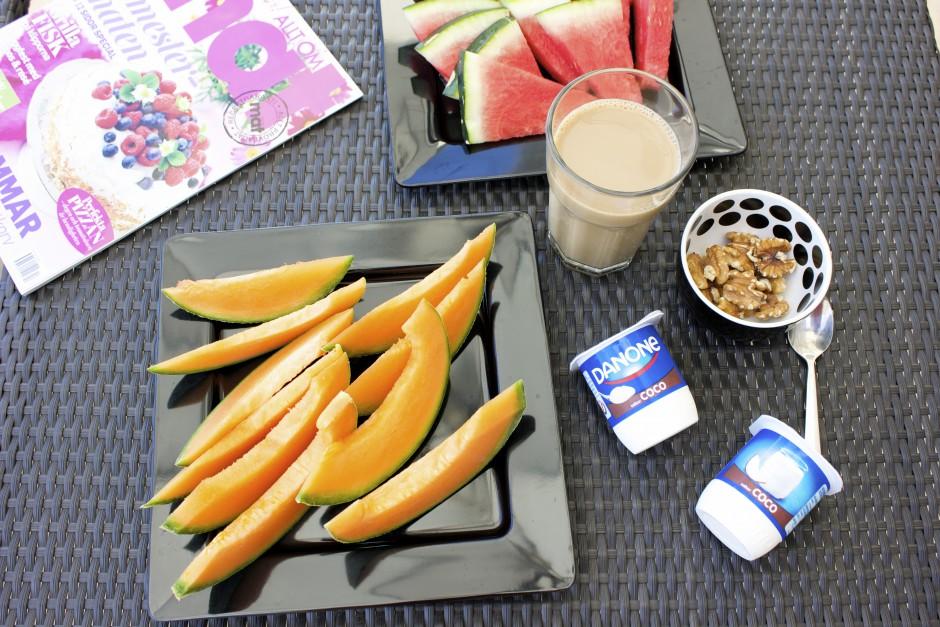 melon och coconut yoghurt