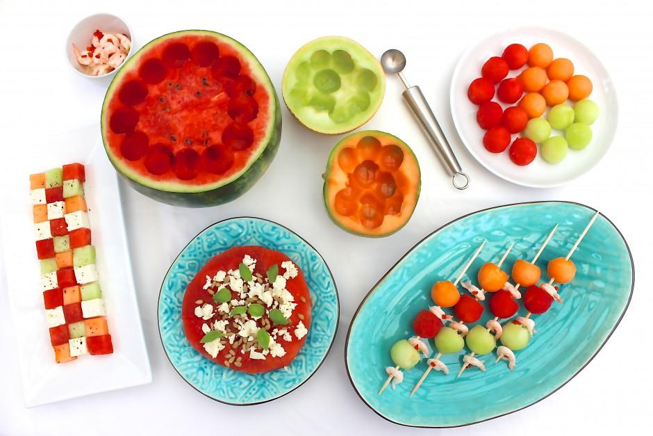 smårätter med melon