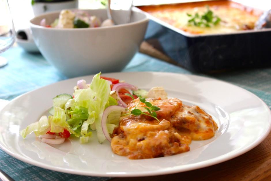 Moussaka med potatis