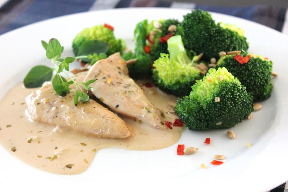 kyckling i balsamico med vitlök och chilifräst broccoli LCHF
