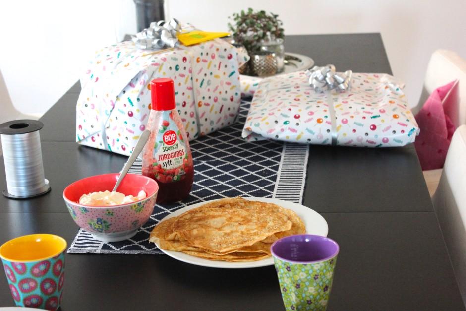 presentpapper panduro och pannkakor
