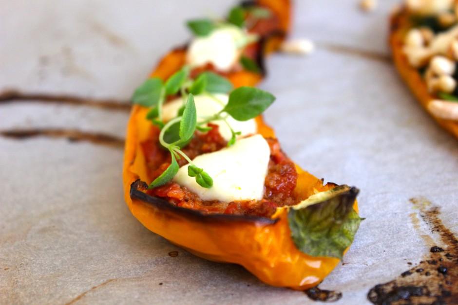 fylld paprika med köttfärs och mozzarella