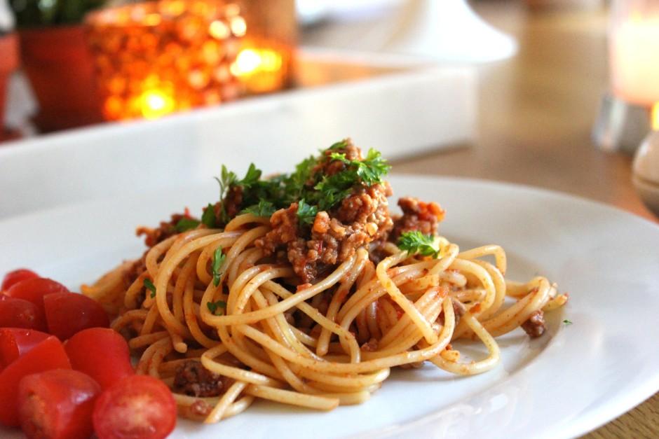 köttfärsås med spaghetti