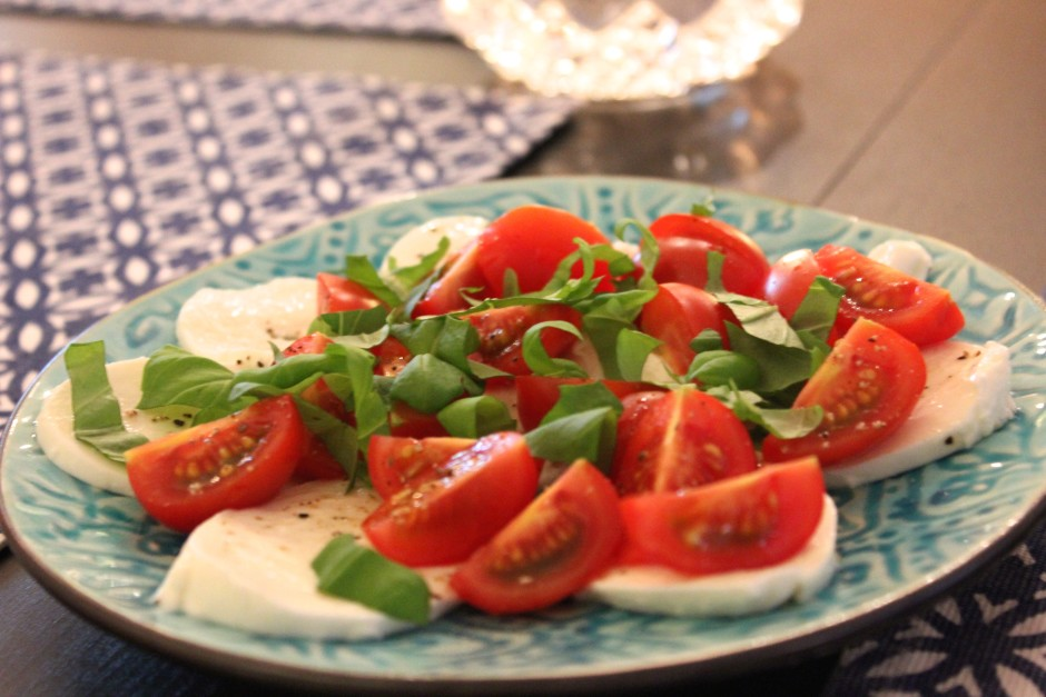 tomat mozzarella sallad