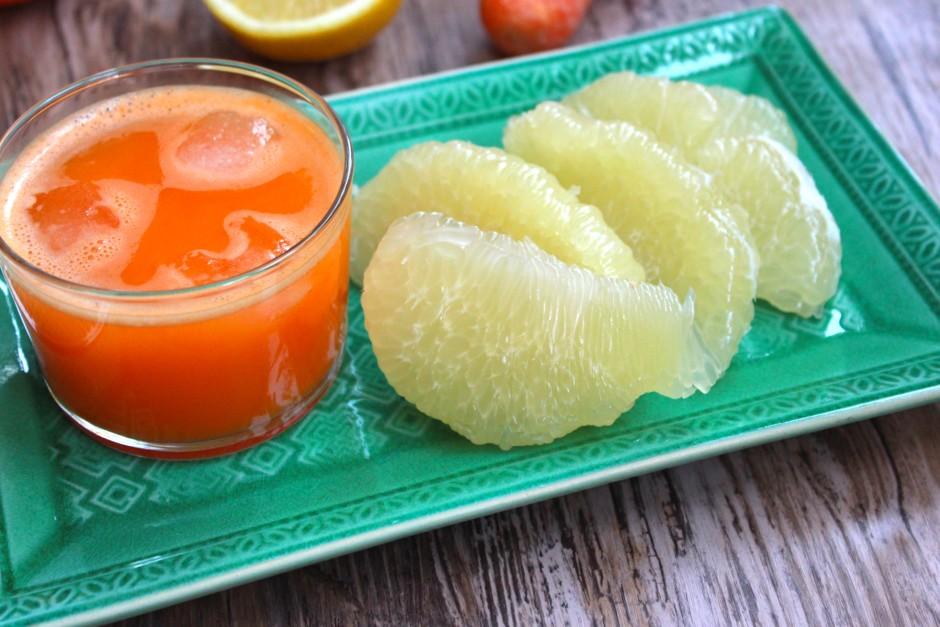 Apelsinjuice med ingefära och morot