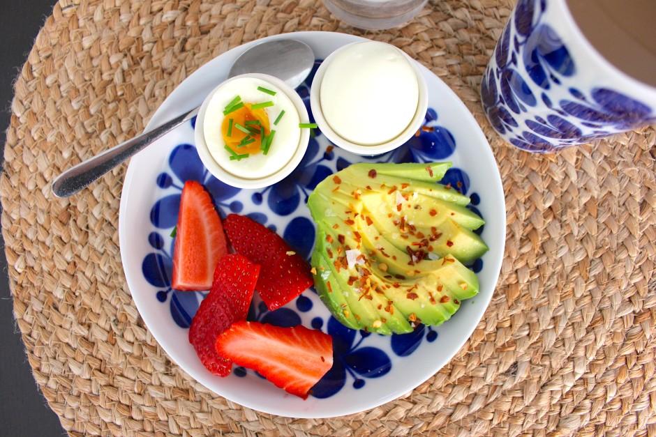 ägg och avokado till frukost lchf