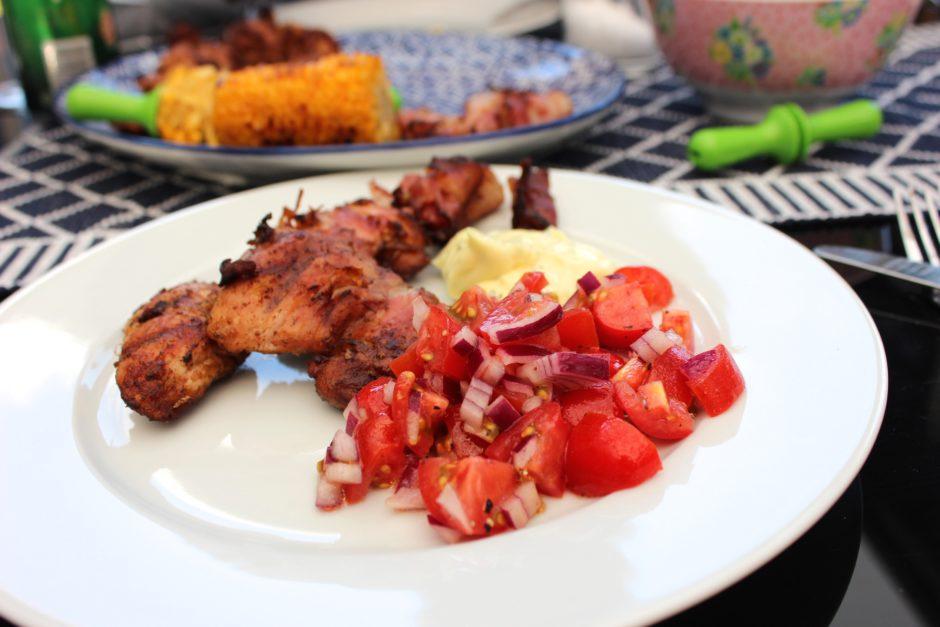 grillad kycklinginnanlår