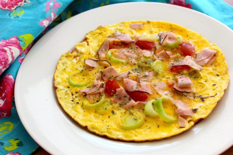 Pizza-omelett lchf