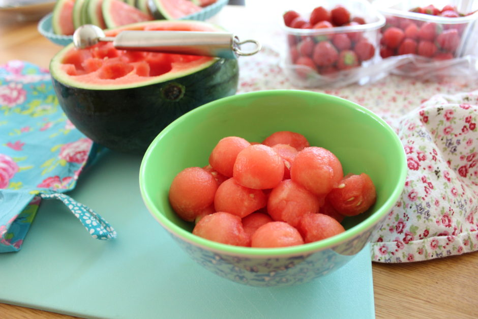 Frysta vattenmelonkulor