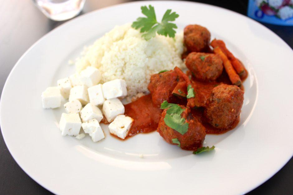 Köttbullar i tomatsås, lchf