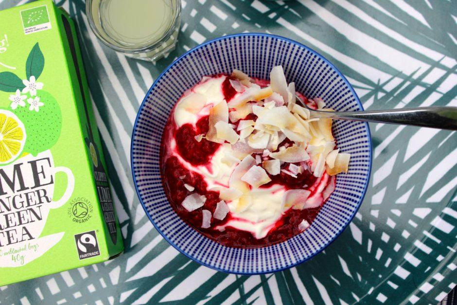rysk yoghurt och te med kokosolja, lchf lowcarb
