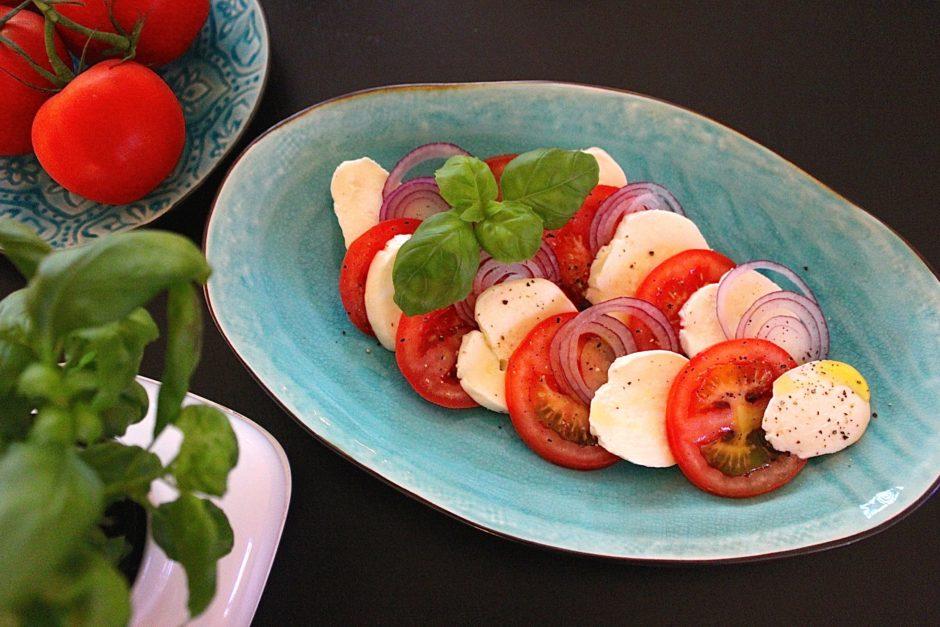 Tomat och mozzarella, lchf, förrätt