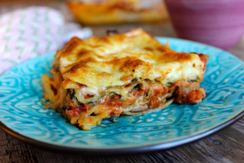 vegetarisk lasagne tomatsås